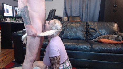 Cam Show Blow Job And Cum On Face - SlaveBC - Full HD 1080p